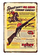 Daisy for Christmas Red Ryder 1940 kids bb gun air rifle tin sign donor plaque