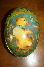 Antique German Papier-Mache ? Paper Litho Easter Egg Duckling Candy Container