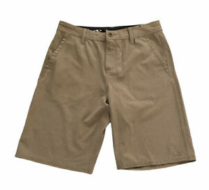 O'Neill Hybrid Shorts Men's Size 29 Tan Quick Dry Zip Fly Polyester Stretch