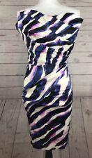 Venus Womens Strapless Cocktail Dress Multicolor Size 4