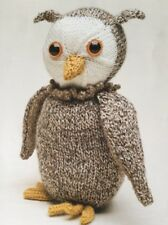 """Knitting Pattern For  Toy Animal  Owl  Approx. 9"""" In Height"""