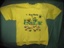 Bug World Kids t-shirt Yellow Screen Star Best 14-16 Bee Butterfly ants Spider