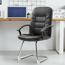 Vinsetto High Back Office Chair Plush Guest Computer Seat Cantilever Sled Base