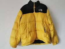 Vintage Men's The North Face Nuptse 700 Down Jacket YELLOW / BLACK  Large (L)
