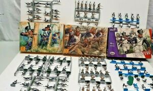 140 Painted Hat Napoleonic French Line ,Fusiliers, & Light infantry on sprue