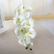1PCS WHITE Color Artificial Butterfly Orchid Silk Flower Wedding Phalaenopsis