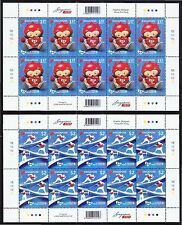 SINGAPORE 2015 8TH ASEAN PARA GAMES 2 FULL SHEET OF 10 STAMPS EACH IN MINT MNH