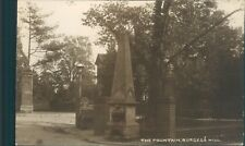 real photo Burgess hill the fountain H J combridge local publsher