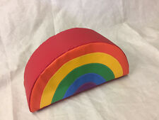 Small Rainbow soft play 25x14x8 inch sewn on quality foam FREE POST