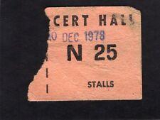 1978 Early Elvis Costello concert ticket stub Perth Australia My Aim Is True