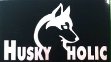 Husky-holic vinyl decal