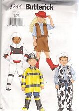 Butterick Sewing Pattern 3244, Child's Character Hero Costumes, Size 6 - 8, New