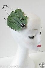 vert noir Fascinator à plumes coiffe vintage pince cheveux années 1920 Les 1940