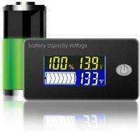 Testeur de Capacité de Batterie Voltmètre de Tension Volt-mètre Moniteur LCD