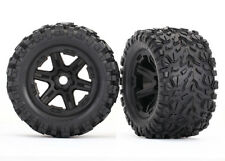 Traxxas E-Revo Talon EXT Tires Black Wheels 17mm Splined *NIP* 8672
