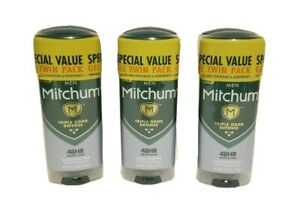LOT OF 6 Mitchum Unscented Triple Odor Defense Gel Deodorant for Men