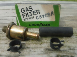 NOS Gas Filter Fram G3428 Goodyear 2224657 Ford Lincoln Mercury 1977-1978