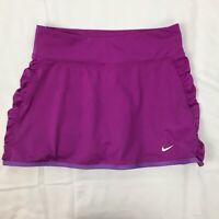 Nike Women Girl Size XS Purple Tie Breaker Skirt Skort Rouching Violet Athletic