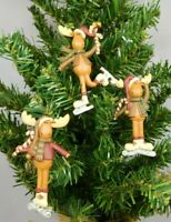 New Blossom Bucket #51786 Set of 2 different mini gingerbread clip ornaments