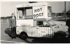 1965 Austin Seven Mini-Cooper Hot Dogs Hamburgers Lunch Body RPPC Postcard
