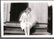 Vintage Photograph 1930-40'S Girls Fashion Jack Russell Terrier? Dog Puppy Photo