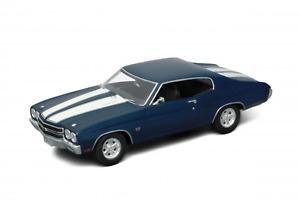 Welly 1:18 1970 Chevrolet Chev. Ss 454 (Blue), #DW19855BL