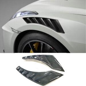 For Nissan R35 GTR 08-17 NIS Style Carbon Fiber Fender Vent Glossy Finish Wheel
