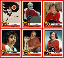 PHILADELPHIA FLYERS 1974-75 High Grade NHL Custom Made Hockey Cards U-Pick THICK