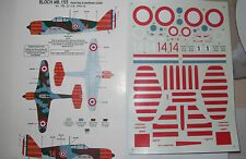 CLASSIC AIRFRAMES DECALC /STICKERS BLOCH MB .155 1/48