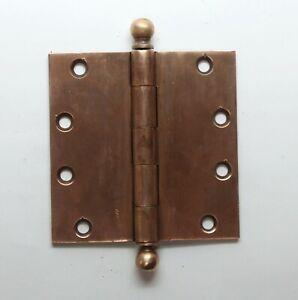 4.5 x 4.5 Solid Bronze Butt Vintage Hinge