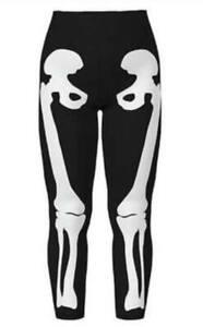 LuLaRoe TC LEGGINGS BLACK BONES SKELETON ON LEG HALLOWEEN *WITCH PLEASE* 2021