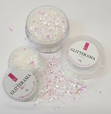 Glitter mylar flakes glitterama unicorn dreams nail art acrylic gel