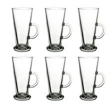 "6er Set Pasabahce 55861 Glas mit Henkel ""Columbian"" 263ml Latte Macchiato Gläser"