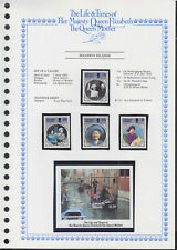 LIFE & TIMES OF QUEEN MOTHER 1985 SOLOMON ISLANDS SET/4 + SS c/w ALBUM PAGE