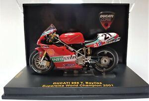 IXO Super Bike Ducati 996 1:24 scale Ducati Team Troy Bayliss 21 2001 FREE POST