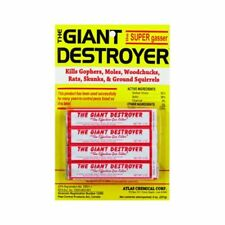 Giant Destroyer 00333 Gas Bomb - Gopher, Mole and Rat Killer - Pack of 2 4packs
