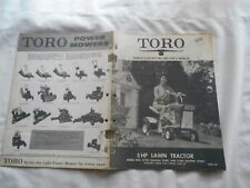 TORO 5 HP LAWN TRACTOR-MODEL NOS. 57100 AND 57200-1967-OPERATING & PARTS MANUAL