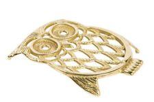 Sottopentola in ottone lucido a forma di  gufo owl