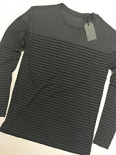 AllSaints Crew Neck Fitted Long Sleeve T-Shirts for Men