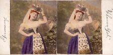 10 kolorierte Stereofotos schöne Motive, Genre Deutschland um 1870, Lot 4