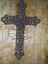 Cast Iron Victorian Style RELIGIOUS CROSS  Rustic Ranch Western Decor #6