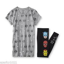 Marvel The Avengers Women's Knit Pajamas Junior Size Medium