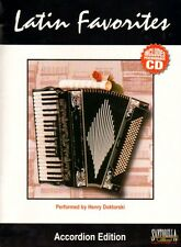 Latin Favorites for Accordion, Music Book & CD
