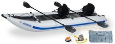 NEW SEA EAGLE 435PS PRO PADDLESKI 5-IN-1 INFLATABLE CATAMARAN KAYAK BOAT PACKAGE