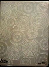 Sizzix Large Embossing Folder RETRO CIRCLES TIM HOLTZ fits Cuttlebug 4.5x5.75in