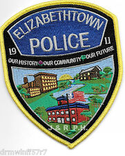 "Elizabethtown, Pennsylvania (4"" x 5"" size) shoulder police patch (fire)"
