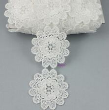 2 Yards Fabric Polyester Off White Beautiful Venise Lace 48mm Sewing Trim Crafts