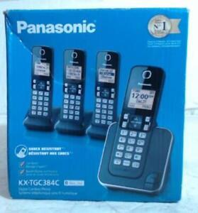 NEW Panasonic KXTGC384C Dect_6.0 4-Handset Landline Telephone Set $150