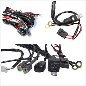 Waterproof 2Lead Universal Car LED Working Light Bar Fog Lamp Wiring Harness Kit