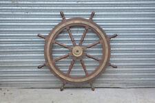 vintage large boat ships wheel original ships boat steering wheel wooden boat